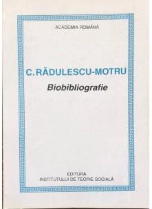 C. Rădulescu-Motru Biobibliografie