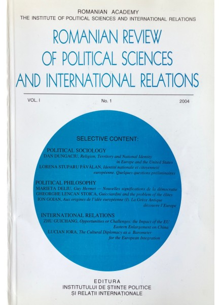 Romanian Review of Political Sciences and International Relations Nr.1 / 2004