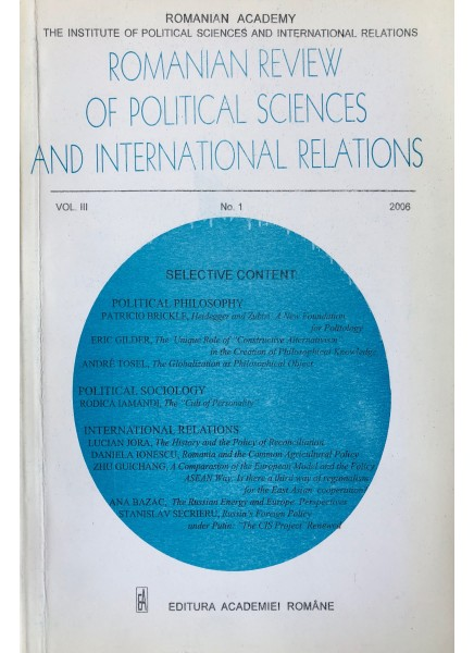 Romanian Review of Political Sciences and International Relations Nr.1 / 2006