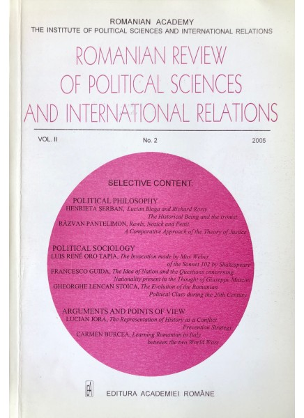Romanian Review of Political Sciences and International Relations Nr.2 / 2005