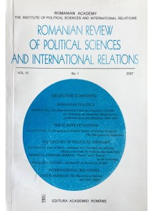 Romanian Review of Political Sciences and International Relations Nr.1 / 2007