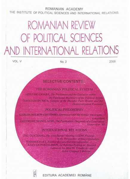Romanian Review of Political Sciences and International Relations Nr.2 / 2008