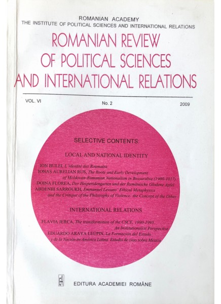 Romanian Review of Political Sciences and International Relations Nr.2 / 2009