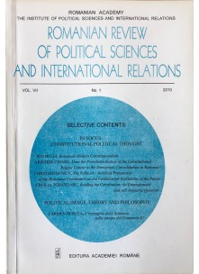 Romanian Review of Political Sciences and International Relations Nr.1 / 2010
