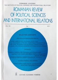 Romanian Review of Political Sciences and International Relations Nr.1 / 2011