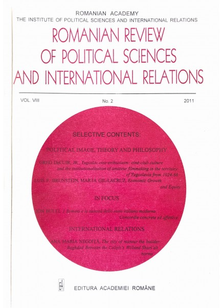 Romanian Review of Political Sciences and International Relations Nr.2 / 2011