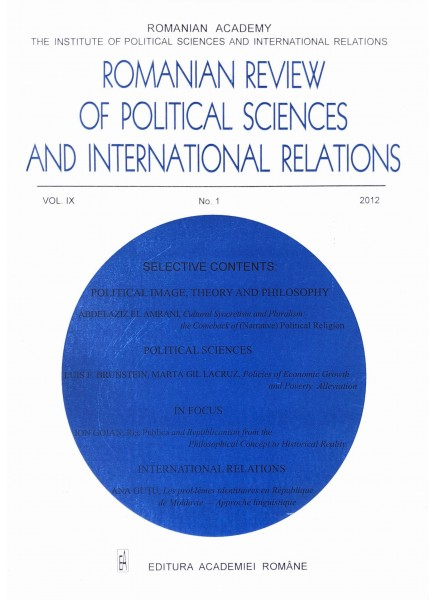 Romanian Review of Political Sciences and International Relations Nr.1 / 2012