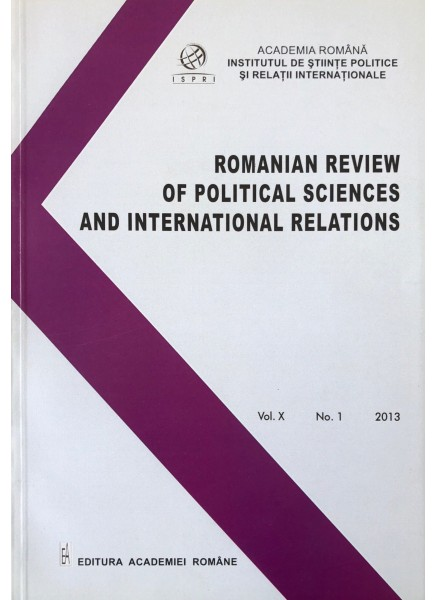 Romanian Review of Political Sciences and International Relations Nr.1 / 2013