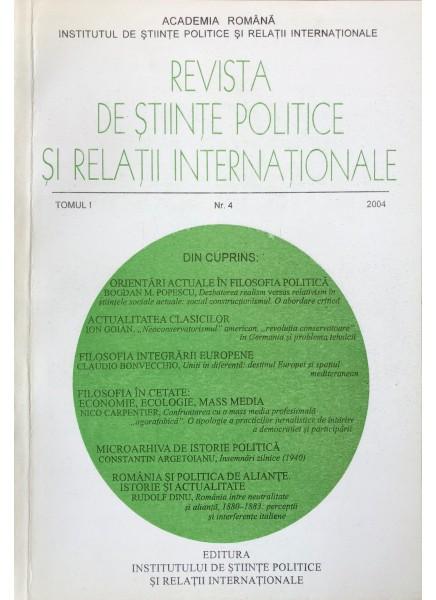 Revista de Științe Politice și Relații Internaționale nr.4 /2004