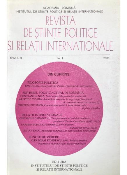 Revista de Științe Politice și Relații Internaționale nr.1 /2006