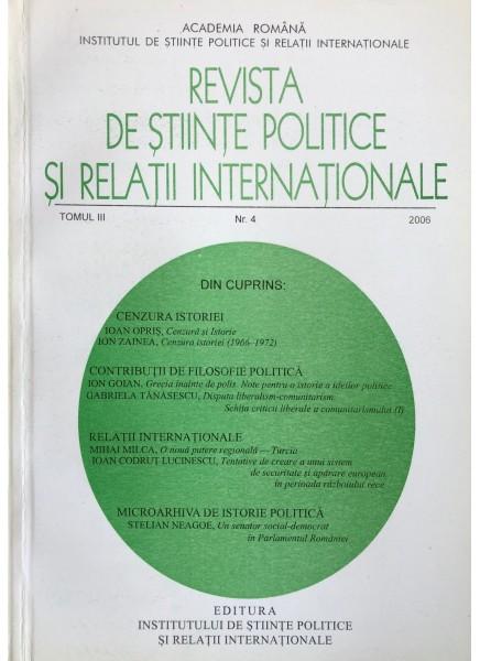 Revista de Științe Politice și Relații Internaționale nr.3 /2006