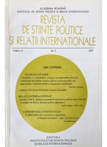 Revista de Științe Politice și Relații Internaționale nr.3 /2007