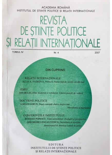 Revista de Științe Politice și Relații Internaționale nr.4 /2007