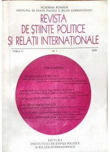 Revista de Științe Politice și Relații Internaționale nr.1 /2008